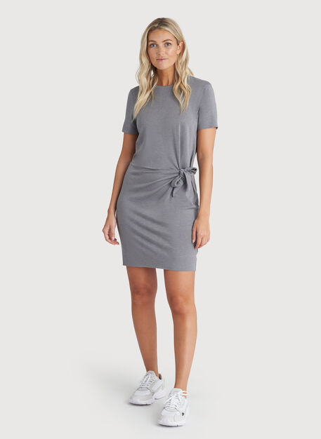 Brushed Tie Dress, HTHR Shade | Kit and Ace