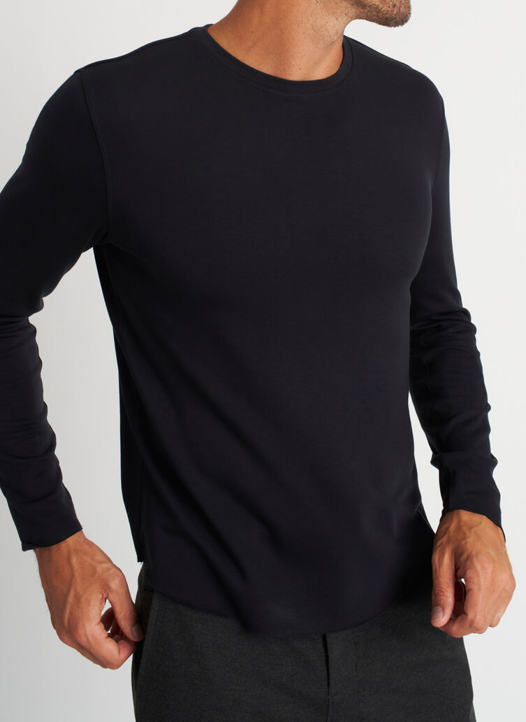 The B.F.T. Long Sleeve Crewneck Tee, Black | Kit and Ace