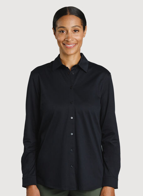 O.T.M. Pleated Button Up, BLACK | Kit and Ace