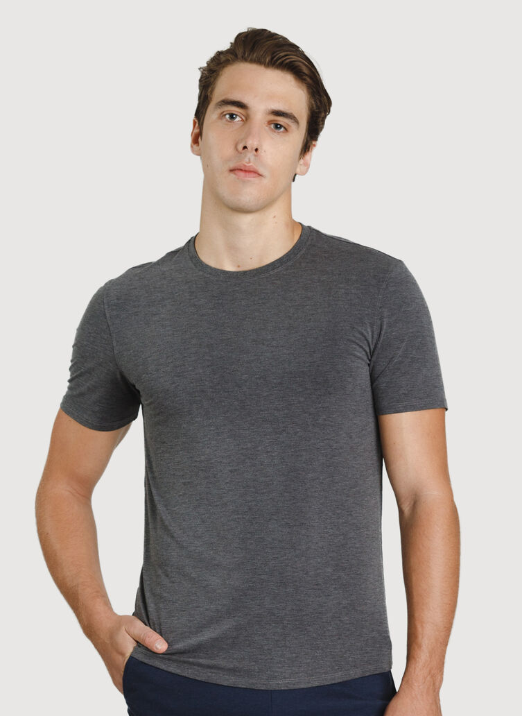 Ace Crew Tee, HTHR Charcoal | Kit and Ace