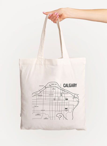 City Tote Bag, White/Calgary | Kit and Ace