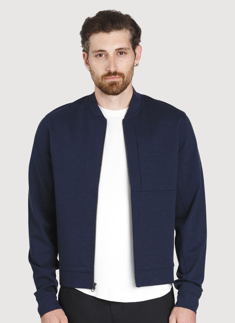 Comfort Bomber, Heather Dark Navy | Kit and Ace