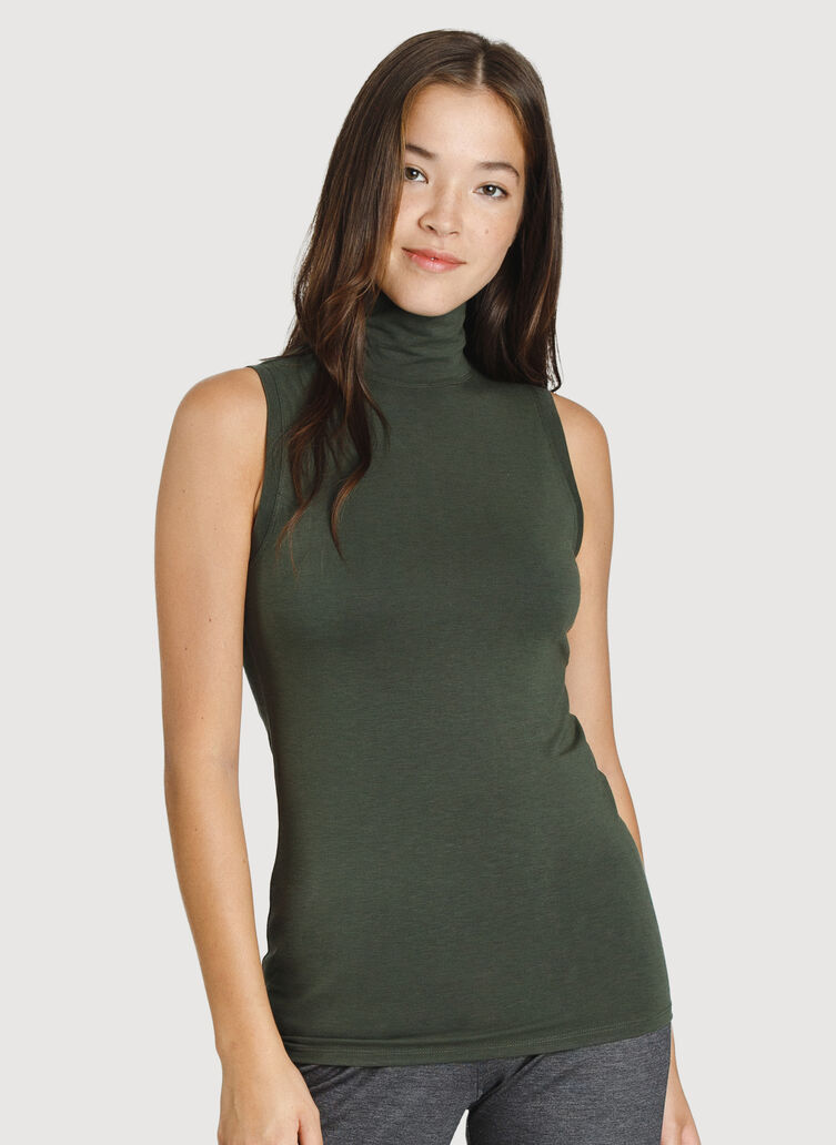 Kit Sleeveless Turtleneck, Ivy | Kit and Ace