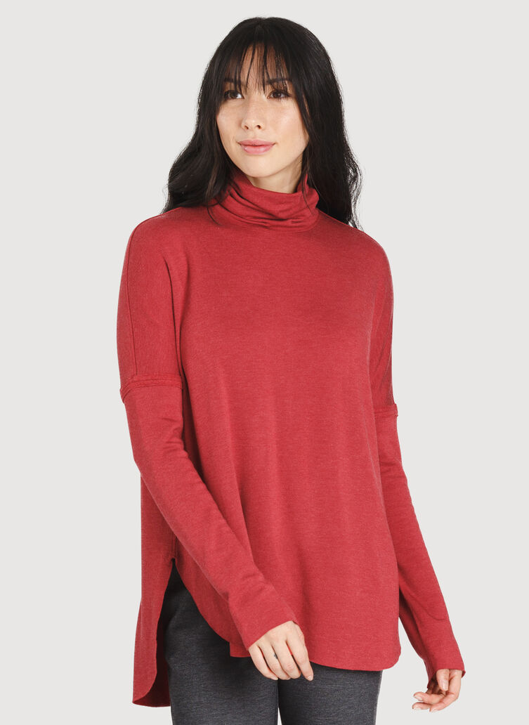 Burrow Turtleneck, HTHR Chili Pepper | Kit and Ace