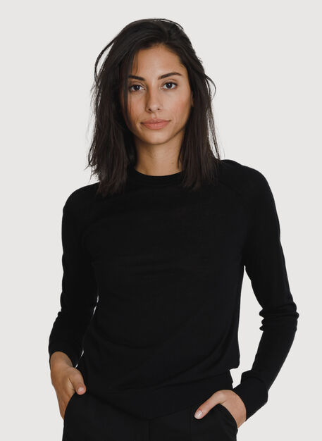 Sunsetter Crew Neck Sweater, Night | Kit and Ace
