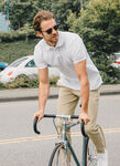 Portside Pique Polo 2.0, Bright White | Kit and Ace