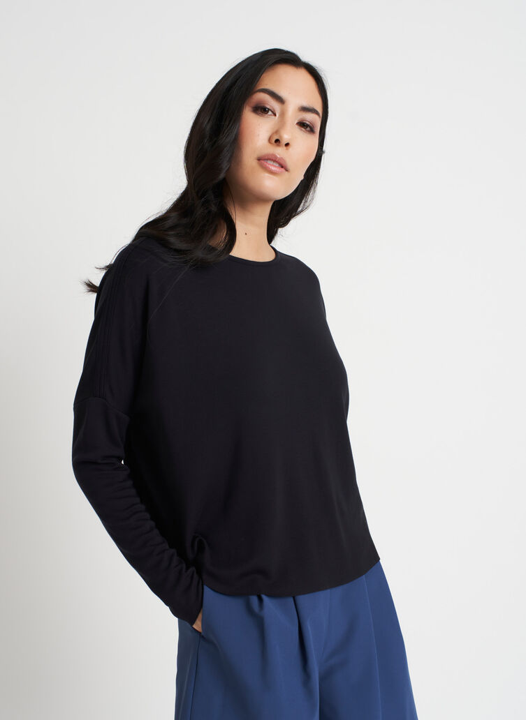 So Soft Pullover, Black | Kit and Ace