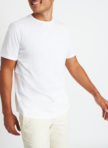 Stash and Ride Crewneck Tee, Bright White | Kit and Ace