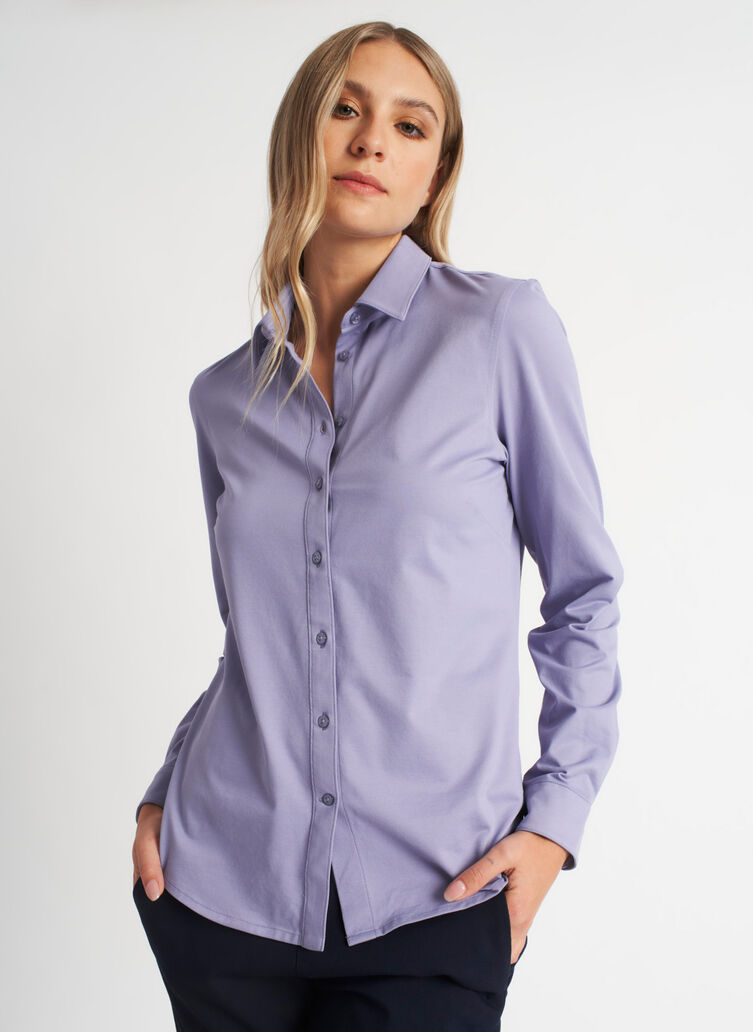 O.T.M. Classic Blouse, Lavender | Kit and Ace