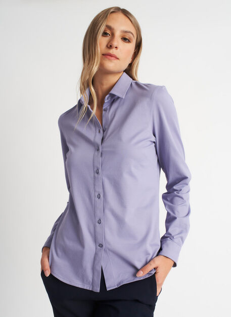 On the Move Classic Blouse, Lavender | Kit and Ace