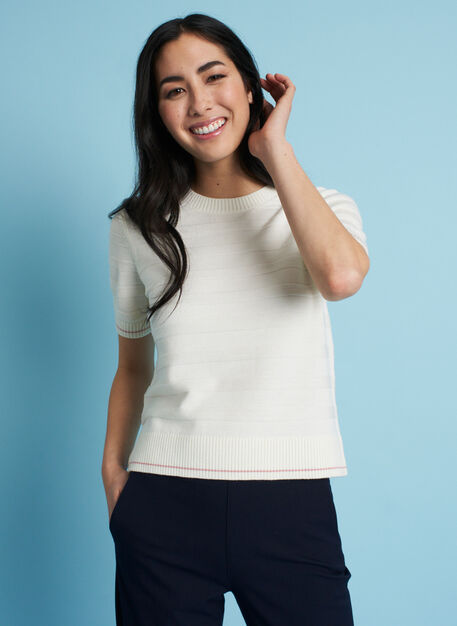 Dreamy Merino Sweater Tee, Ivory | Kit and Ace