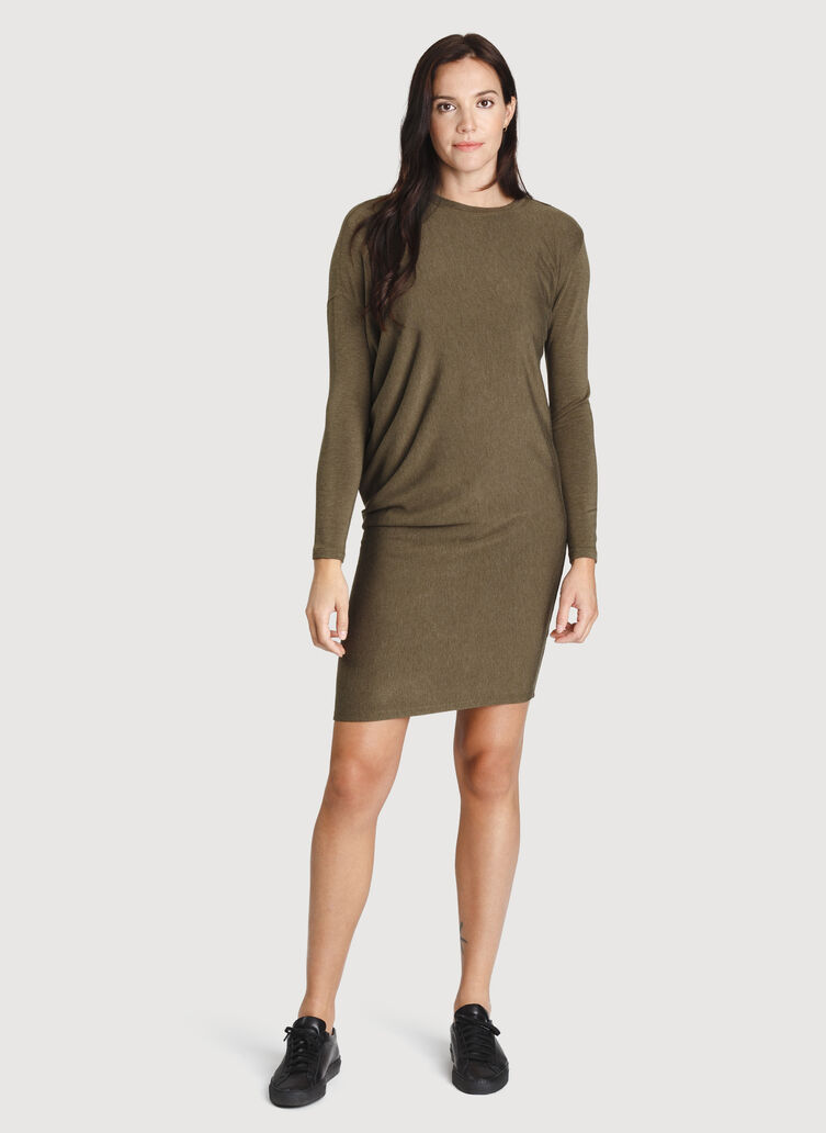 Wave Long Sleeve Dress, HTHR Moss | Kit and Ace
