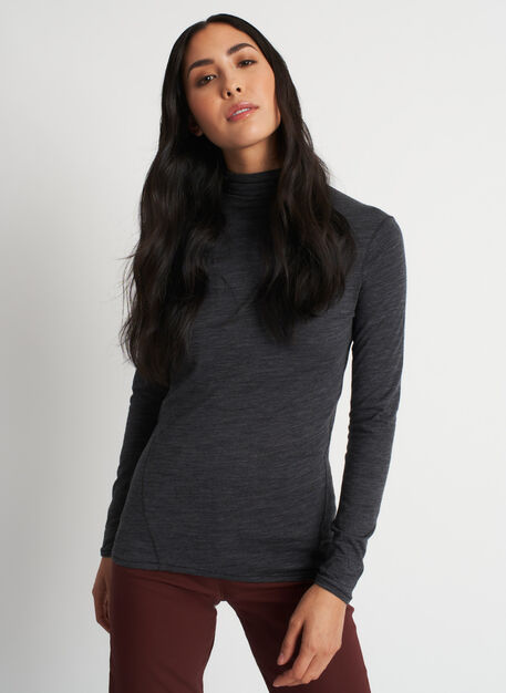 Effortless Merino Turtleneck, Heather Charcoal | Kit and Ace