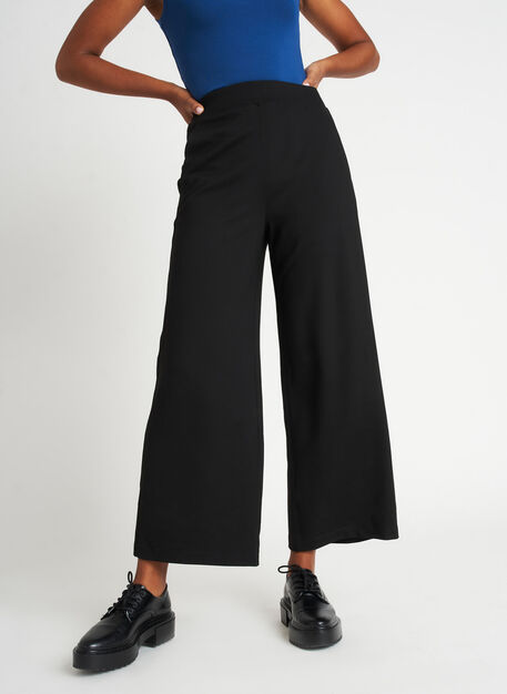 Serenity Wide Leg Pants, Black | Kit and Ace