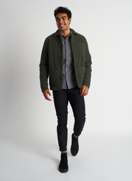 Snug Shirt Jacket, Deep Forest/Black | Kit and Ace