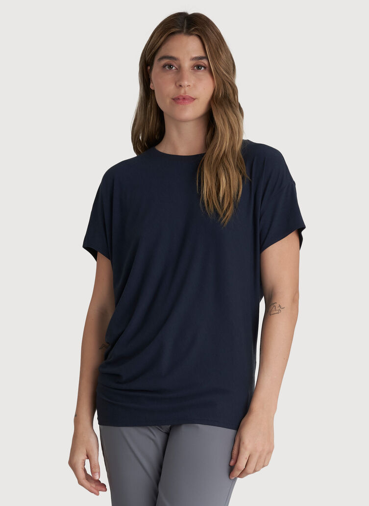 Wave Tee, Dark Navy | Kit and Ace