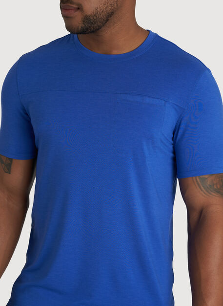 Ace Pocket Crewneck Tee, Ocean | Kit and Ace