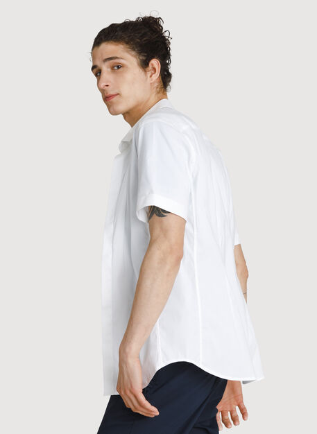 Stretch Woven Short Sleeve, Bright White | Kit and Ace