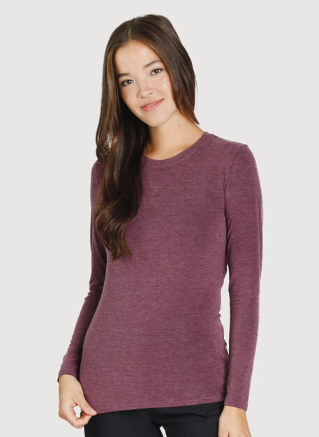 Kit Long Sleeve Crew, HTHR Plum Wine | Kit and Ace