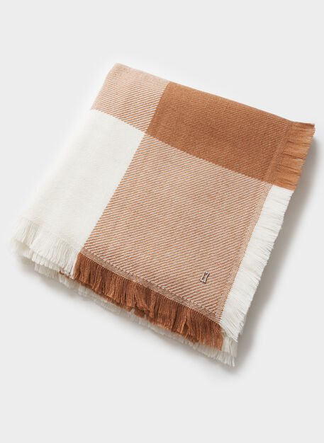 Blanket Scarf, Heather Toffee/Ecru   Kit and Ace