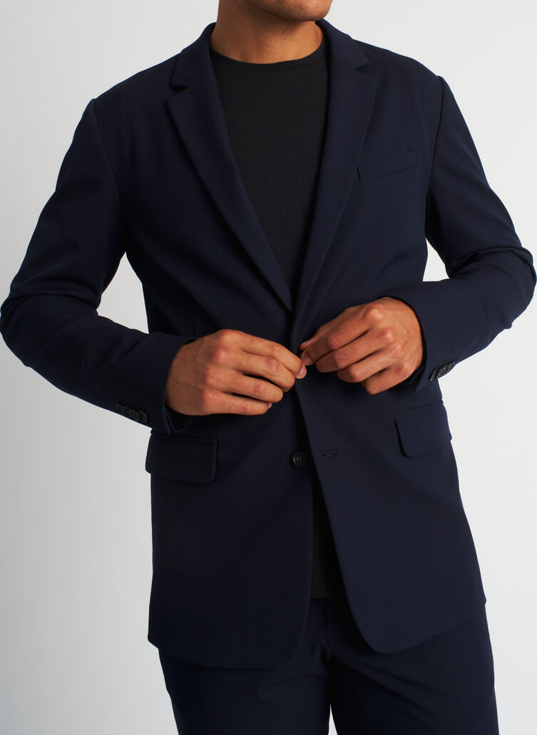Recycled Suiting Blazer, Dark Navy | Kit and Ace
