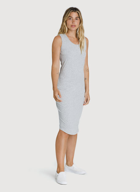 Kit Pima Scoop Neck Dress, HTHR Metal | Kit and Ace