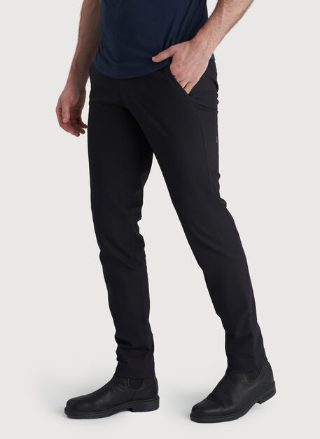 Commute Pant Slim Fit, BLACK | Kit and Ace