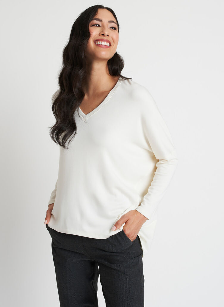 Easy Over Pullover, Bone White | Kit and Ace