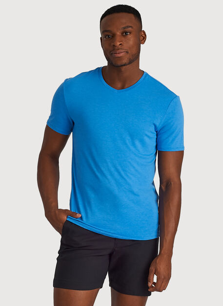 Ace Tech Jersey V Tee Standard Fit, HTHR Sail Blue | Kit and Ace