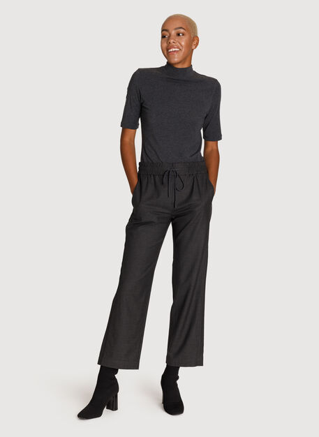 Relaxed Stretch Trouser, HTHR Charcoal | Kit and Ace