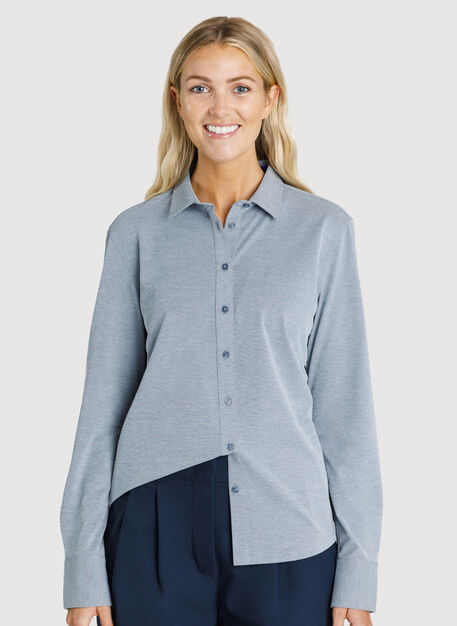 O.T.M. Long Sleeve Button Up, DK Navy Chambray | Kit and Ace