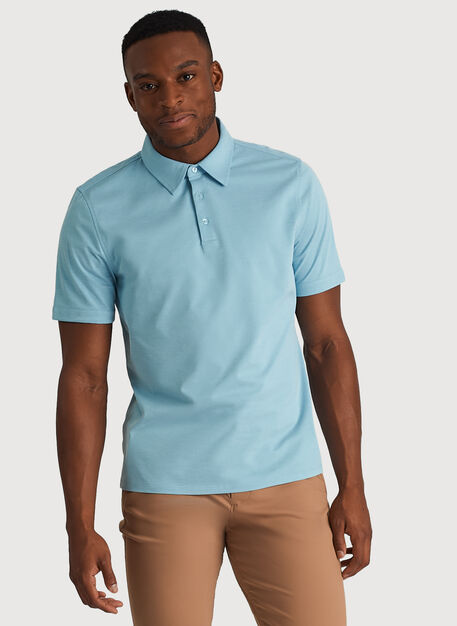 City Tech Polo, Blue Moon Chambray | Kit and Ace