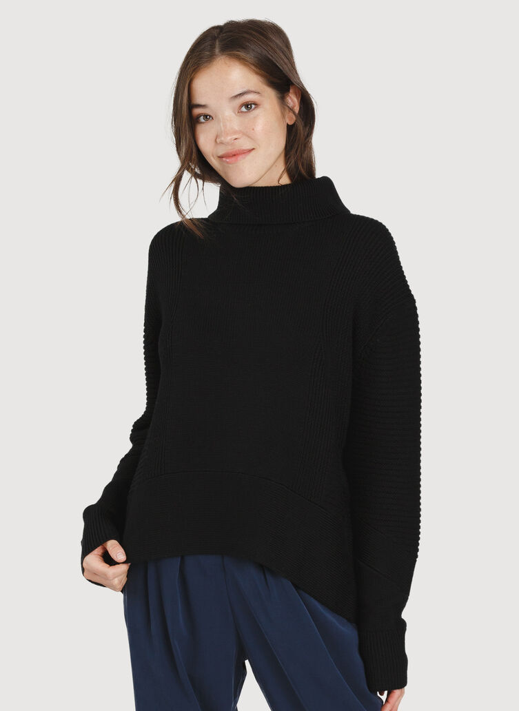 Ash Turtleneck, BLACK | Kit and Ace