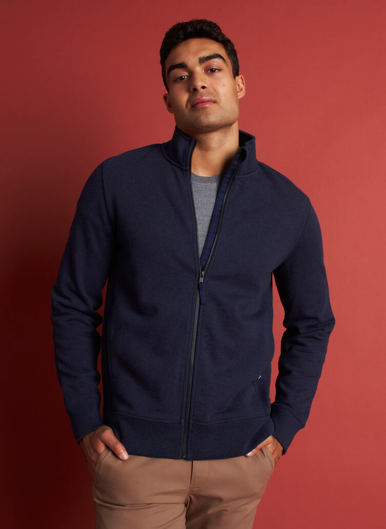 West Coast Jacket, Heather Dark Navy | Kit and Ace
