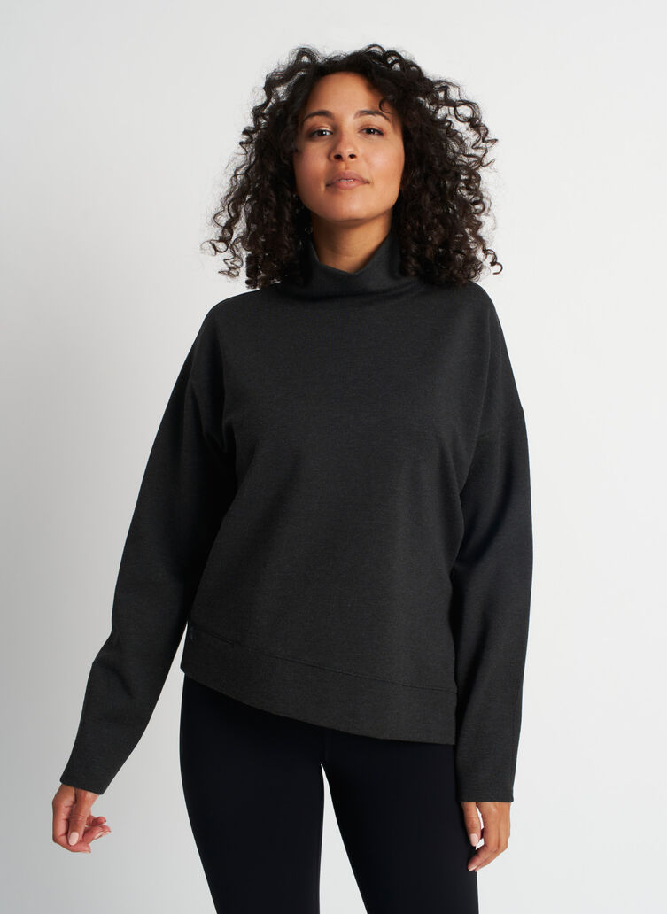 Serenity Pullover, Heather Charcoal | Kit and Ace