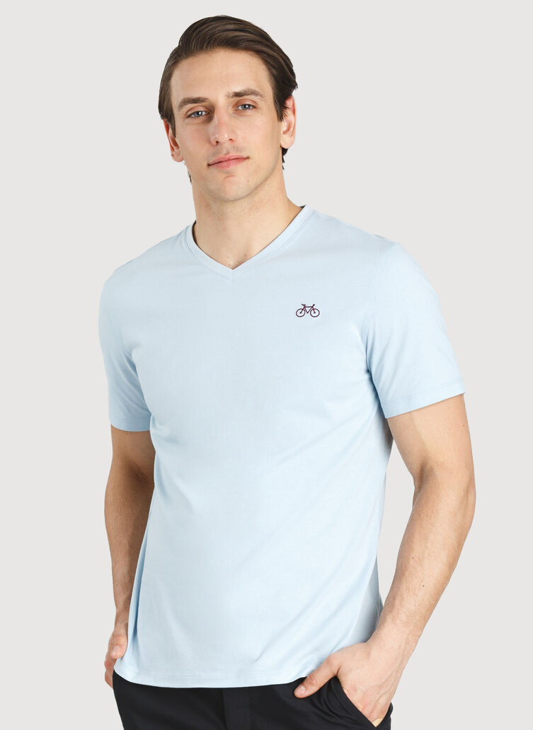 Motion V Tee, Celestial Blue | Kit and Ace