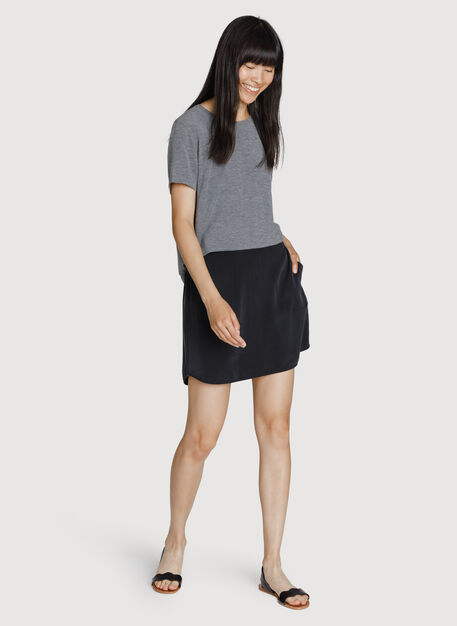 Easy Breezy Stretch Skirt, BLACK | Kit and Ace