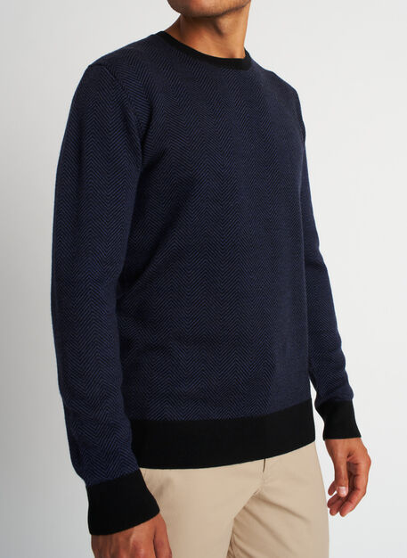 All Day Sweater, Black/Heather Dark Navy | Kit and Ace