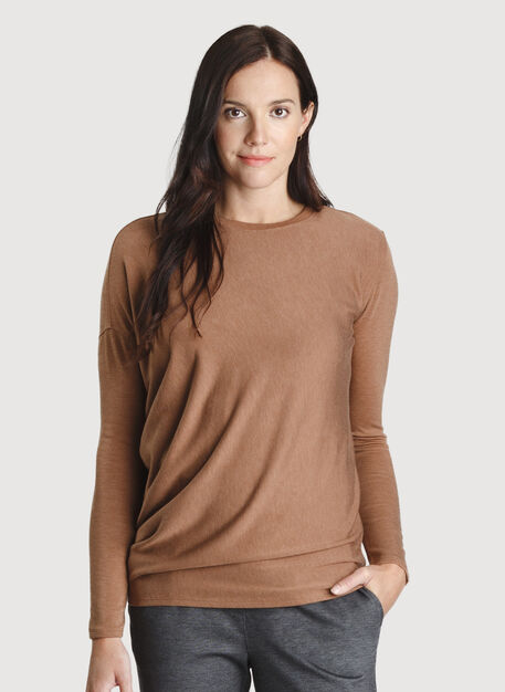 Wave Long Sleeve, HTHR Toffee | Kit and Ace