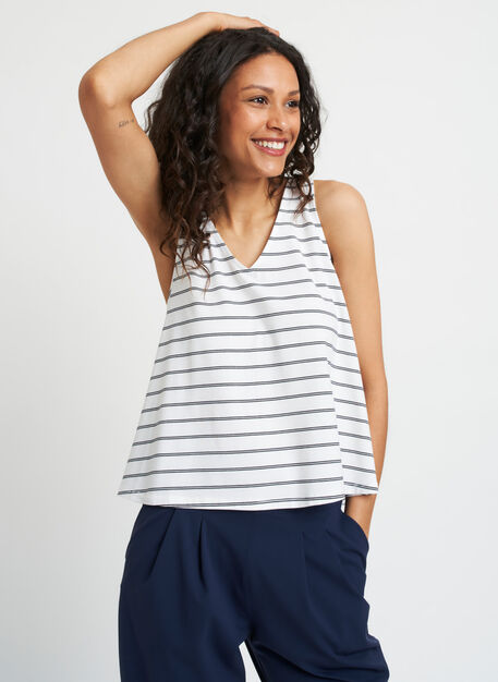 Lovely Tank, White Duo Stripe | Kit and Ace