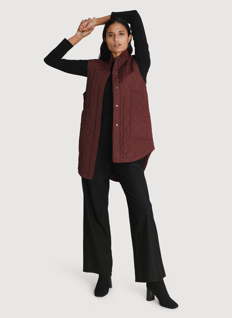 Kit Quilted Vest *Lightweight, Bordeaux | Kit and Ace