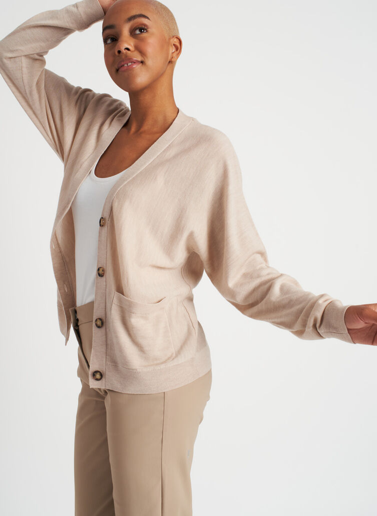 Carry On Merino Cardigan, Desert | Kit and Ace
