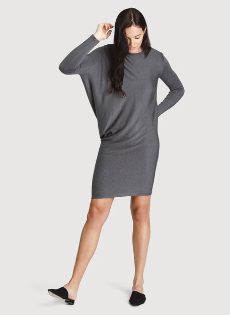 Wave Long Sleeve Dress, Heather Charcoal | Kit and Ace