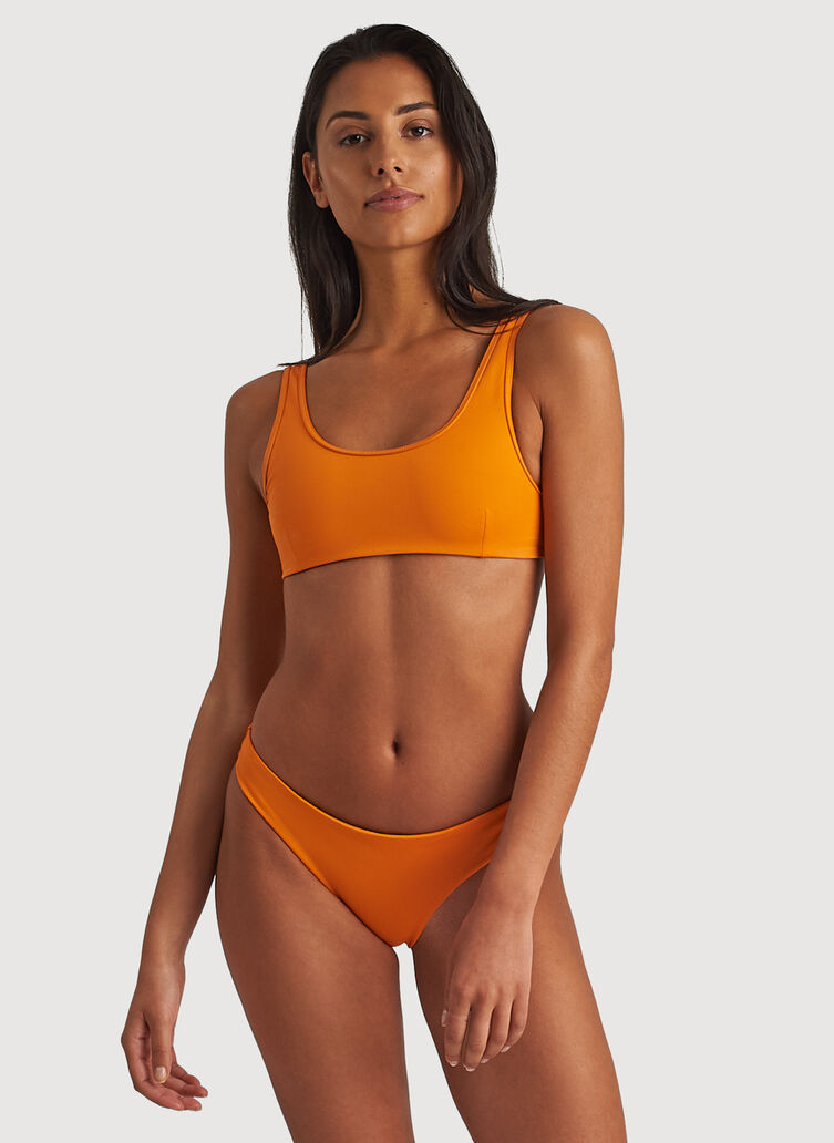 Kits Scoop Neck Swim Top, Fanta Orange | Kit and Ace