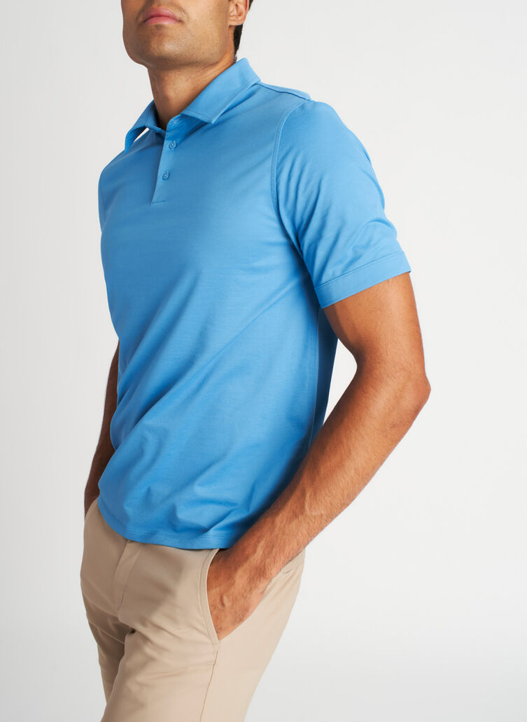 City Tech Polo Tee, Niagara | Kit and Ace
