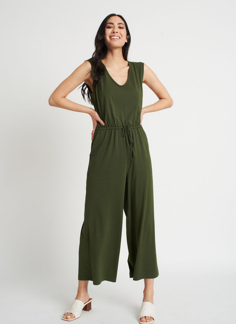At Ease Jumpsuit, Grove Green | Kit and Ace