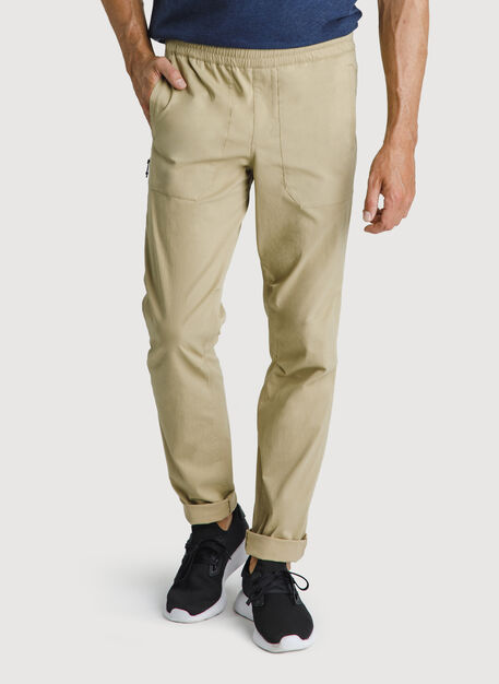 Stretch Cotton Pull-On Pants, Sahara | Kit and Ace