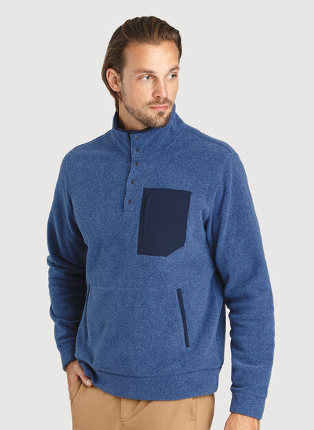 Snug Pullover, Heather Blue Indigo | Kit and Ace