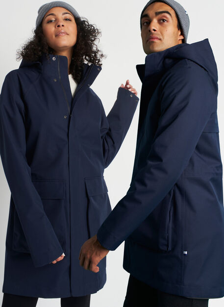 Downtown Downpour Jacket, Dark Navy | Kit and Ace