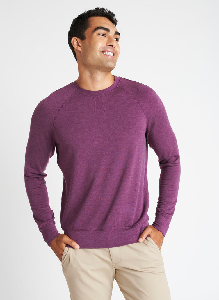 Chillin Brushed Pullover, Heather Plum | Kit and Ace